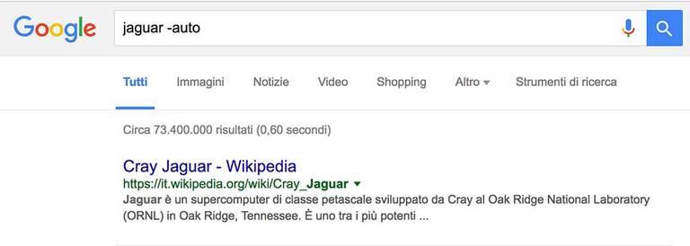 Come usare Google - Es.3