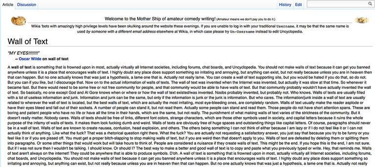 Scrivere articoli online pefertti: muro di testo